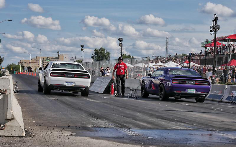 The 2021 MotorTrend Presents Roadkill Nights Powered by Dodge will feature the inaugural Hellcat Grudge Race. // Courtesy of Stellantis