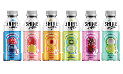 ShineWater, a Bay City-based hydration beverage company, will expand form Michigan to be available at major retailers nationwide. // Courtesy of ShineWater