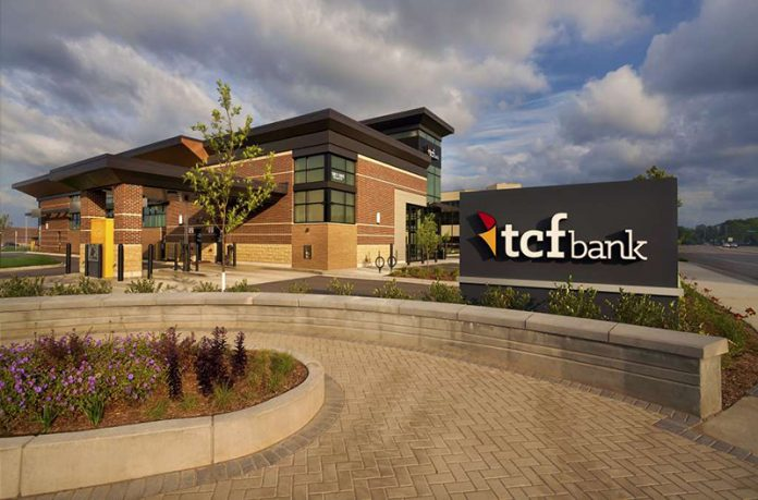 Bricks and Mortar - A stand-alone branch of TCF Bank. // Courtesy of TCF Bank