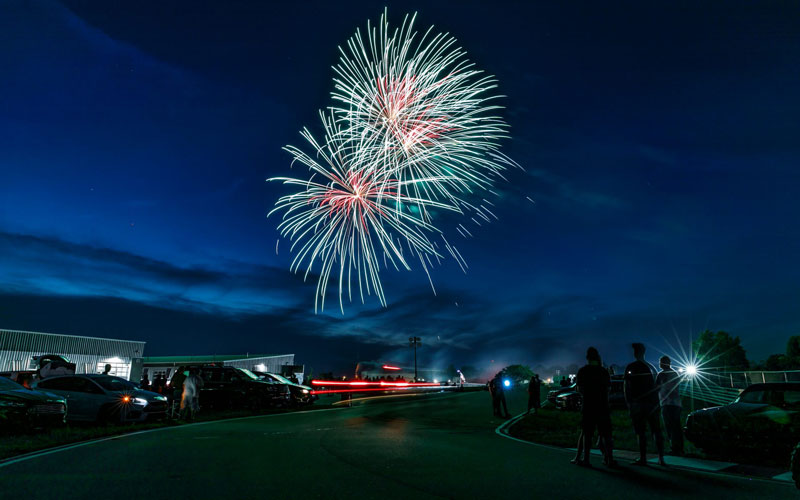 Postponed due to weather on June 27, the Cars Under the Stars fireworks event at M1 Concourse in Pontiac will take place July 18. // Photo courtesy of M1 Concourse