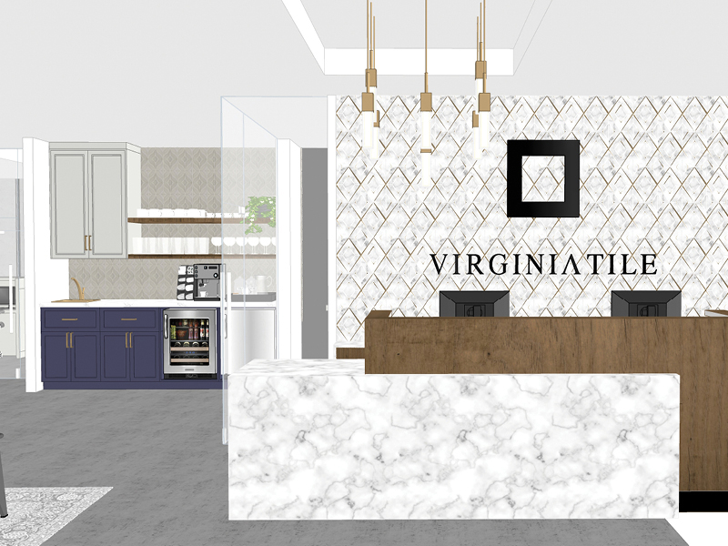 A rendering of Virginia Tiles' new flagship location in Troy. // Courtesy of Virginia Tile