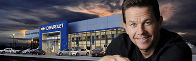Local car dealer Jay Feldman and actor Mark Wahlberg have opened their fifth Ohio dealership in the suburb of Avon. // Courtesy of Mark Wahlberg Chevrolet