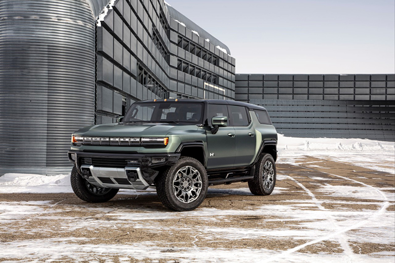 Detroit's Big Three automakers will be at the White House today to announce a shared aspiration to increase their commitments to electrification. GM has many projects underway, including the GMC Hummer EV. // Courtesy of GM