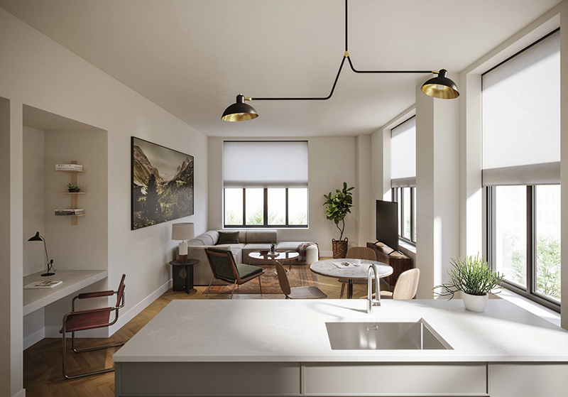 The interior of a high-end apartment
