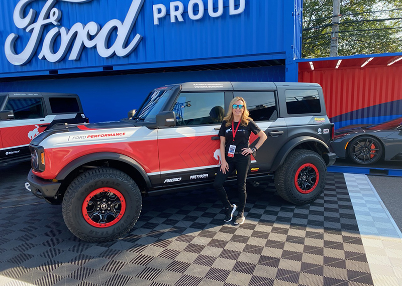 Off-roader Kathryn Reinhardt of 4Wheel Parts will compete for the first time in the Rebelle Rally in a Bronco four-door. // Photo by R.J. King