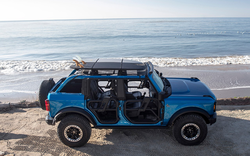 Ford Bronco Riptide on the beach