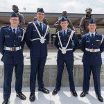 Cadet Liam Hood, Cadet 2nd Lt. Adam Vandermolen, Cadet SSgt. Harrison Humes, Cadet SSgt. Nathan Zieman