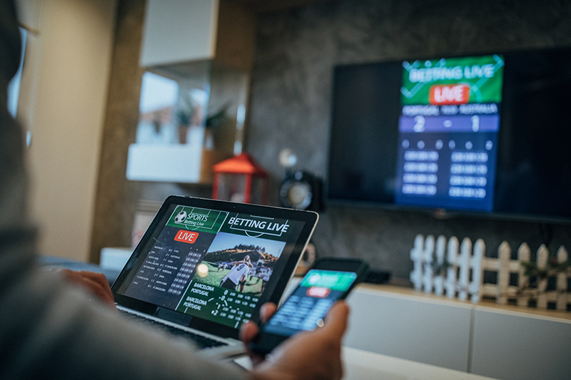 Caesars Entertainment in Las Vegas today announced the launch of its new betting app, Caesars Sportsbook, in Michigan and seven other states. // Stock Photo