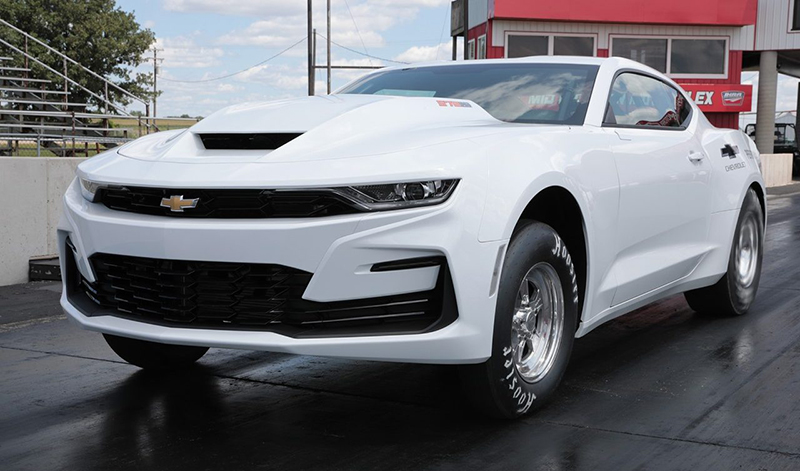 The COPO Camaro with a newly available 572-cubic-inch Big Block V-8 engine that channels the spirit of the 69' COPO Camaro. // Courtesy of Chevrolet