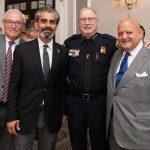 Dan Roberts, Omar Chibib, Police Chief Ronald Haddad, Jim Parrelly