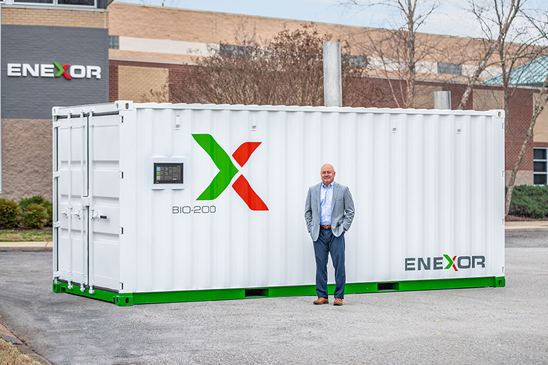 Lee Jestings, founder and CEO of Enexor, a carbon conversion and renewable energy solution provider, received a $10 million investment from BorgWarner in Auburn Hills. // Courtesy of Enexor Bioenergy