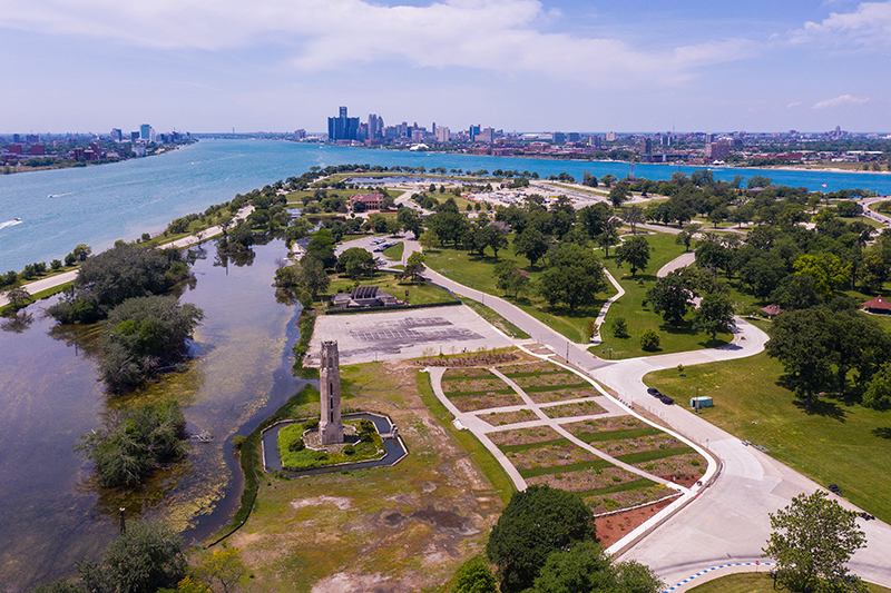Oudolf Garden Detroit, designed by world-renowned garden master Piet Oudolf on Bell Isle will open Aug. 28. // Photo by Ryan Southen