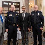 Jim Parrelly, Police Chief Ronald Haddad, Omar Chibib, Tim Stacy, Clint Conant