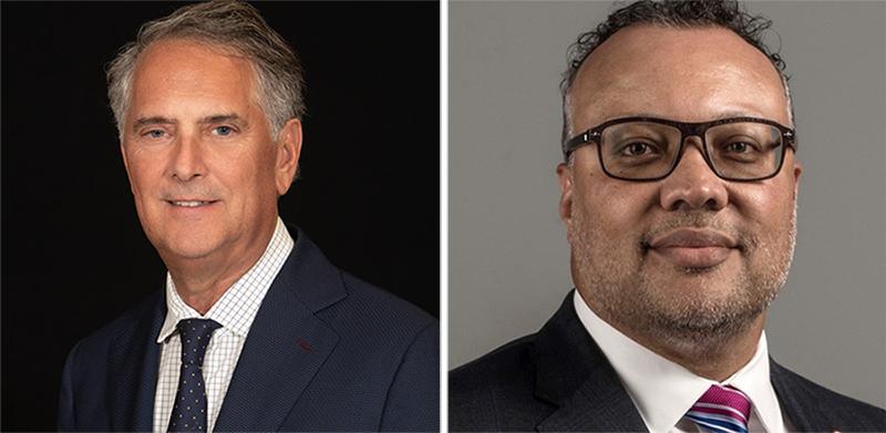 The Oakland University Board of Trustees has elected Robert Schostak (left) chair and Joseph Jones as vice chair. // Courtesy of Oakland University