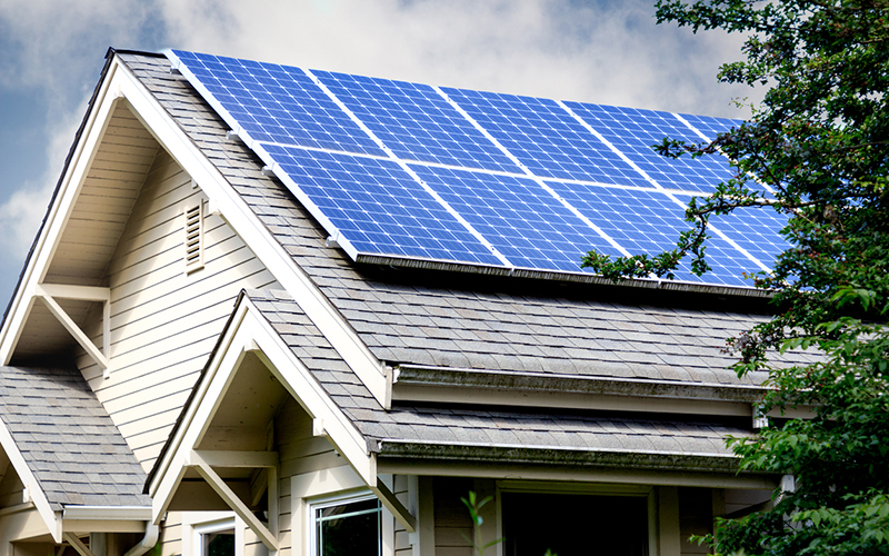 Rocket Cos. in Detroit announced today it is entering the solar energy to help make homes more energy efficient. // Stock Photo