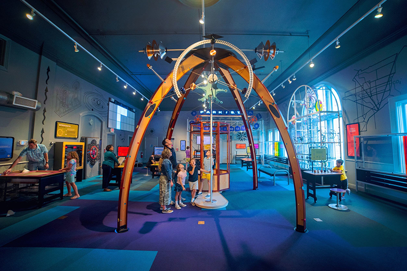 The Ann Arbor Hands-On Museum STEAM PARK is a gallery consisting of 23 individual exhibits created in collaboration with Toyota engineers in Ann Arbor.