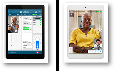 the app interface for NeuroSphere Virtual Clinic