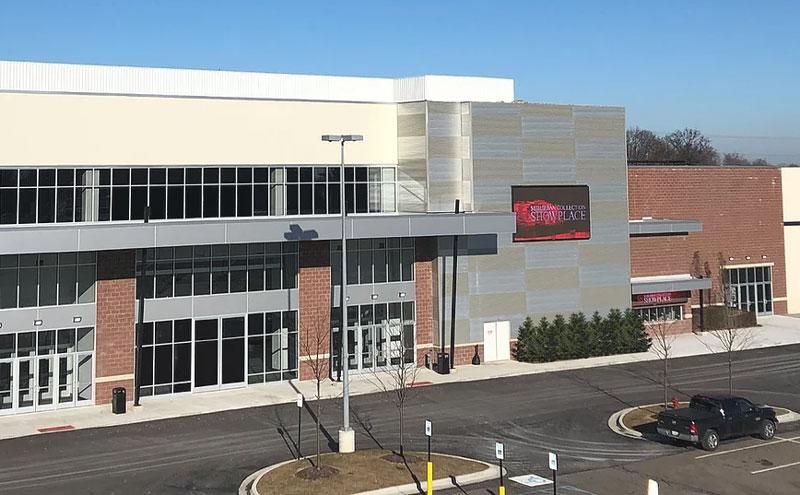the front facade of the suburban collection showplace