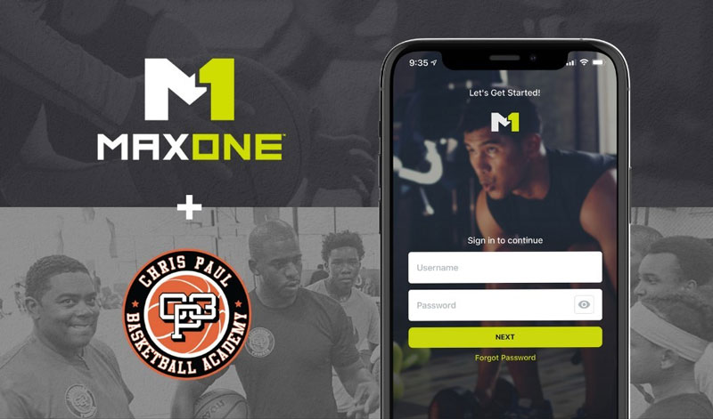 NBA star Chris Paul invests in MaxOne and licenses the platform for digital training at his CP3 Academy in Winston-Salem, N.C. // Courtesy of MaxOne
