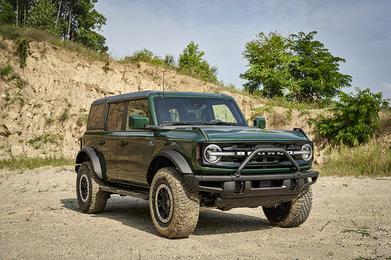 an eruption green ford bronco