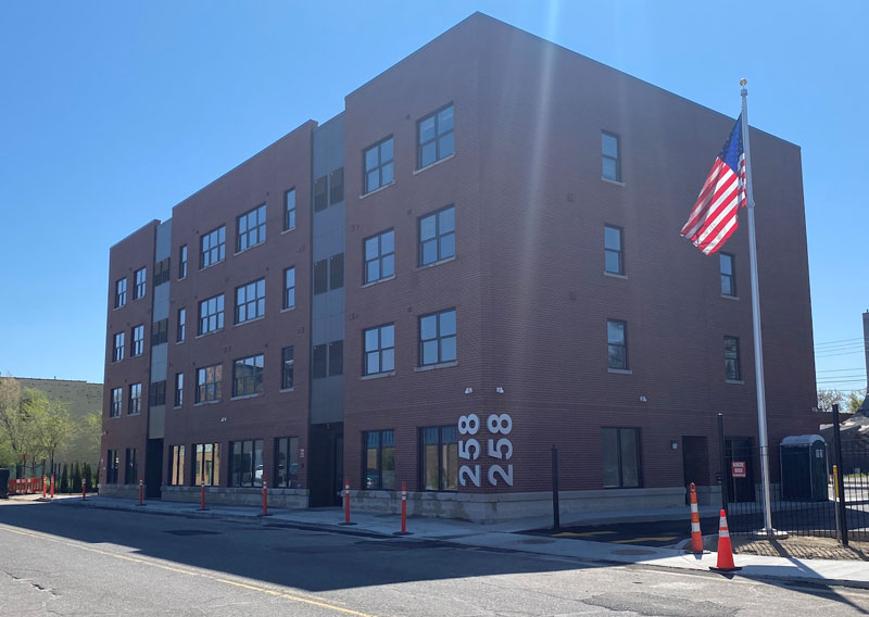 The Milwaukee Junction Apartments feature 25 units of housing, 20 of them at affordable housing rates. // Courtesy of Detroit Catholic Pastoral Alliance