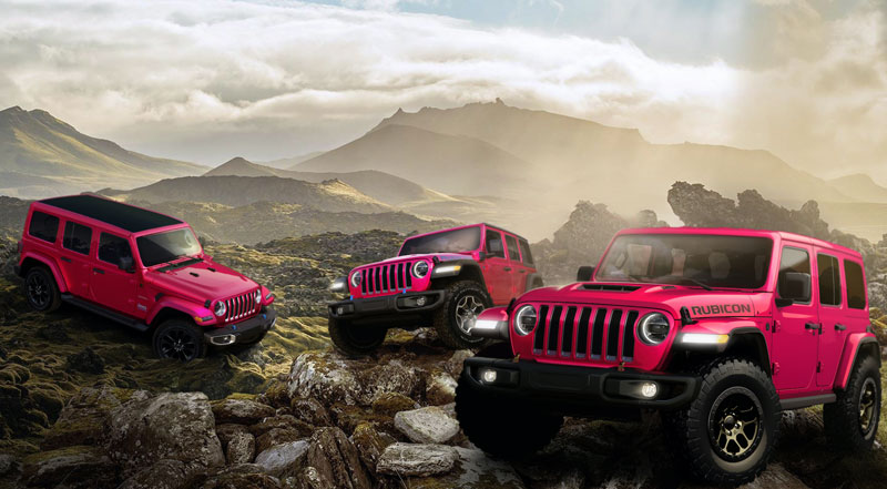 Jeep's new Tuscadero exterior paint color is available for order on 2021 Wranglers through November. // Courtesy of Jeep