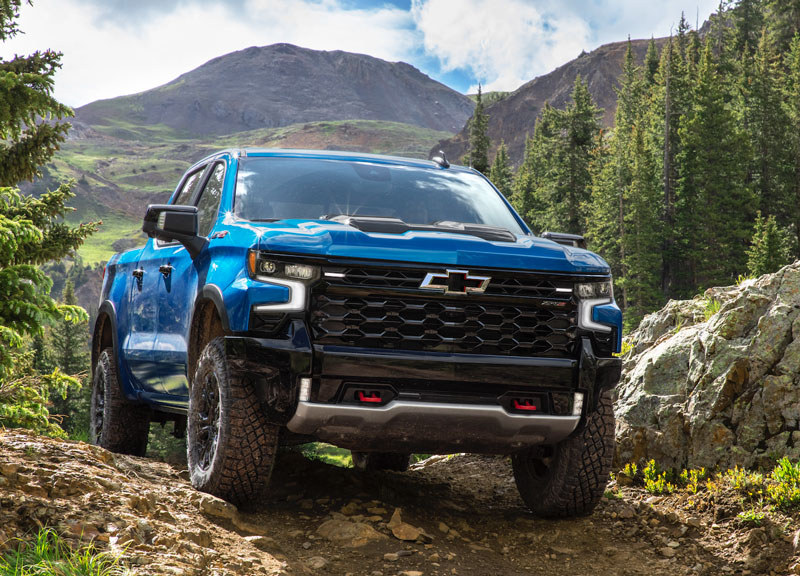 The first-ever Silverado ZR2 off-road truck is part of Chevrolet's 2022 pickup lineup. // Courtesy of Chevrolet