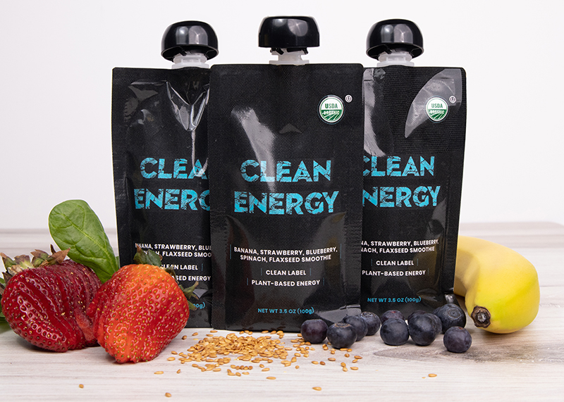 Clean Energy smoothie packets (pictured ) contain only organic fruits and vegetables. // Courtesy of Clean Energy