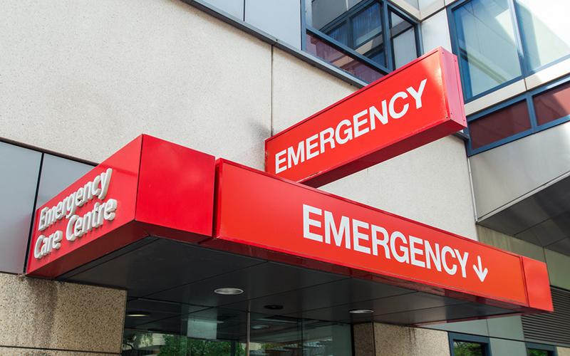 Hospital emergency department entrance
