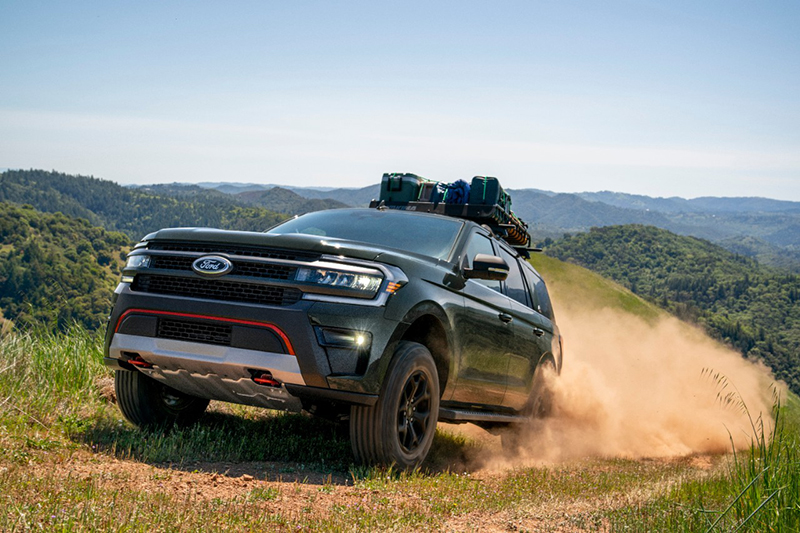 Today at Motor Bella, Ford revealed its lineup of 2022 Expedition SUVs, which includes the rugged off-road capable Timberline. // Courtesy of Ford Motor Co.