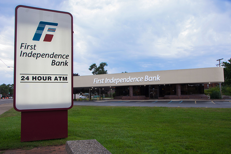 the exterior of a first independence bank branch