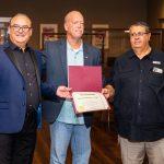 Fadi Achour, Mayor LeRoy Achour, Bernard Issa