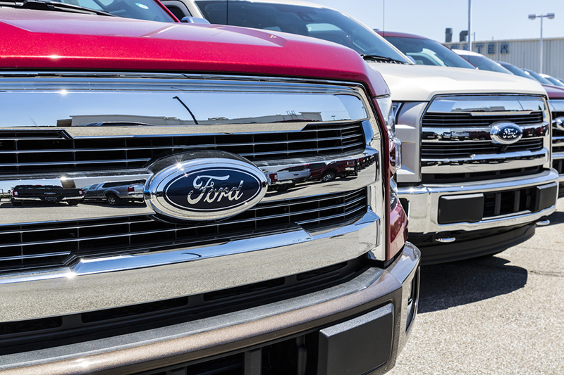 Lafayette - Circa June 2017: Local Ford Car and Truck Dealership. Ford sells products under the Lincoln and Motorcraft brands IX