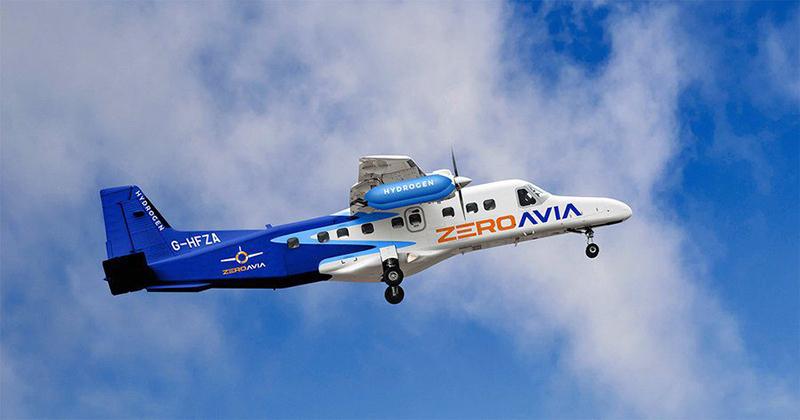 A ZeroAvia zero-emission test aircraft.