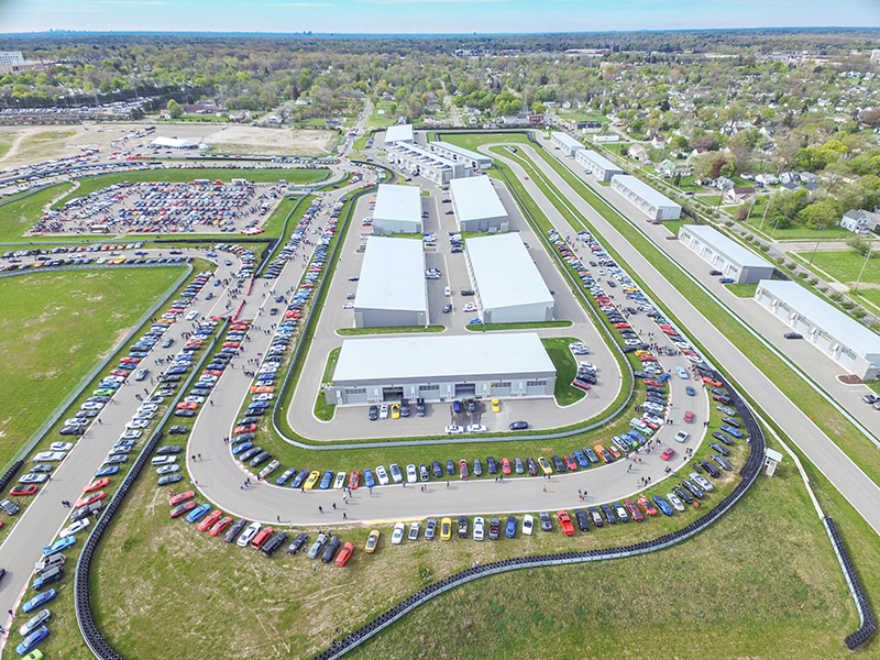 Aerial view of M1 Concourse during the Woodward Dream Show