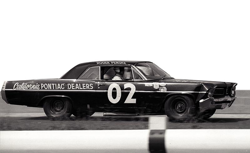 penske driving the number 2 car representing california pontiac dealers