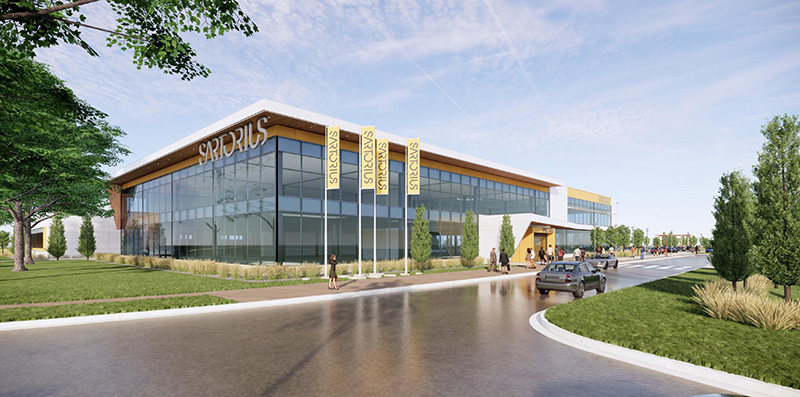 a rendering of the new sartorius group site in ann arbor