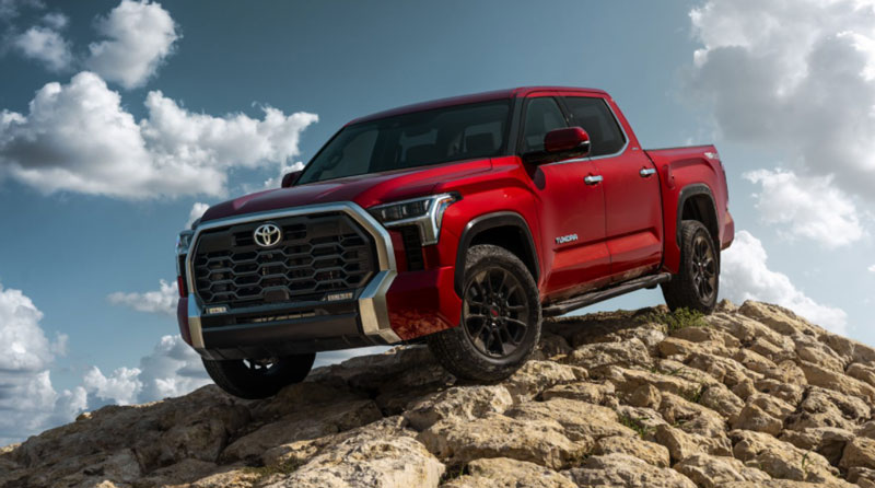 The 2022 Toyota Tundra pickup is making its auto show debut this week during Motor Bella at M1 Concourse in Pontiac. // Courtesy of Toyota