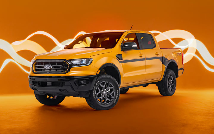 """Ford is reimagining its popular """"Splash"""" appearance package from the 1990s for the 2022 Ford Ranger pickup. // Courtesy of Ford"""
