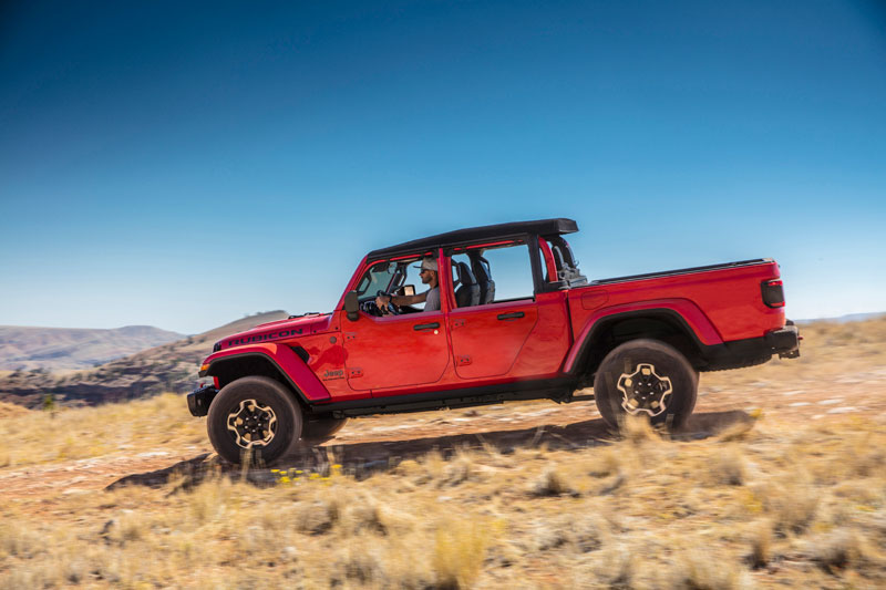 Mopar's Jeep Performance Parts is introducing new half doors for the 2021 Jeep Gladiator. // Photo courtesy of Jeep