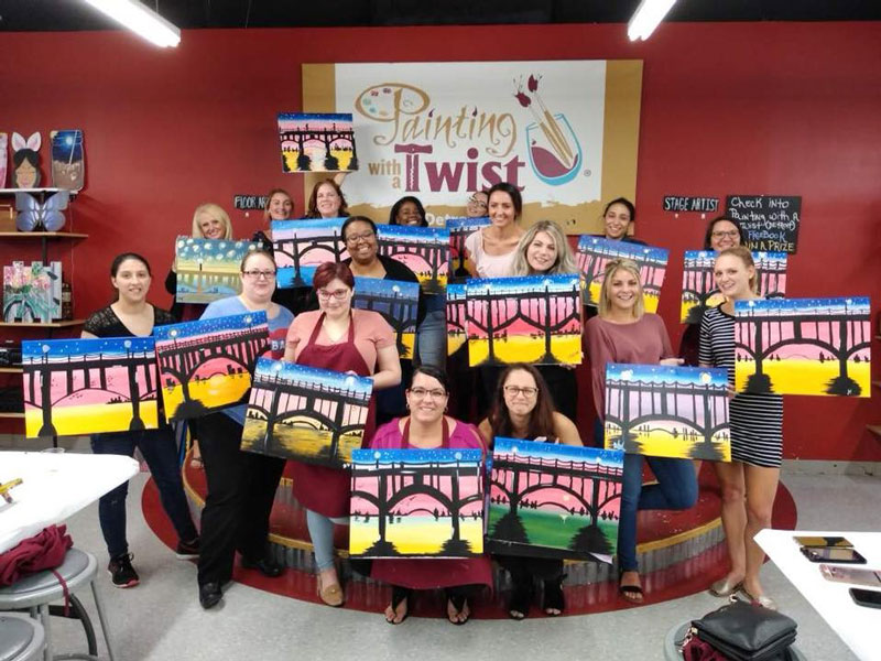 Painting with a Twist in downtown Detroit is reopening with new ownership on Oct. 7. // Courtesy of Painting with a Twist