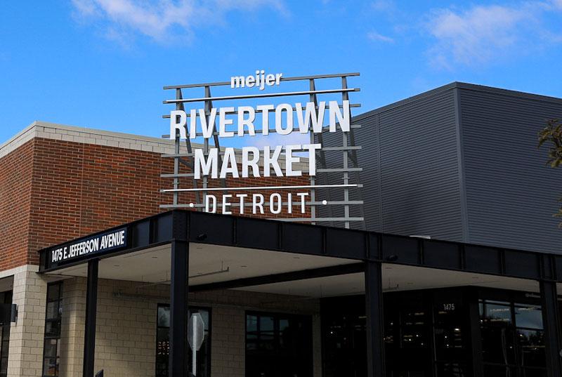 Meijer's Rivertown Market is scheduled to open Oct. 6 in Detroit's East Jefferson Corridor. // Courtesy of Meijer