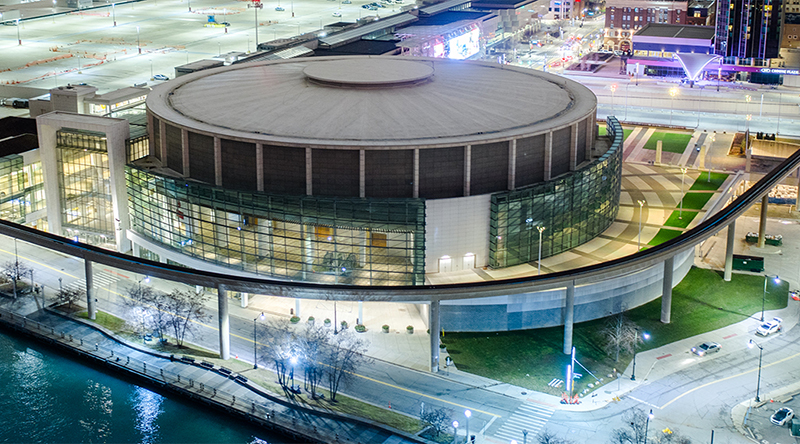 aerial view of the TCF Center