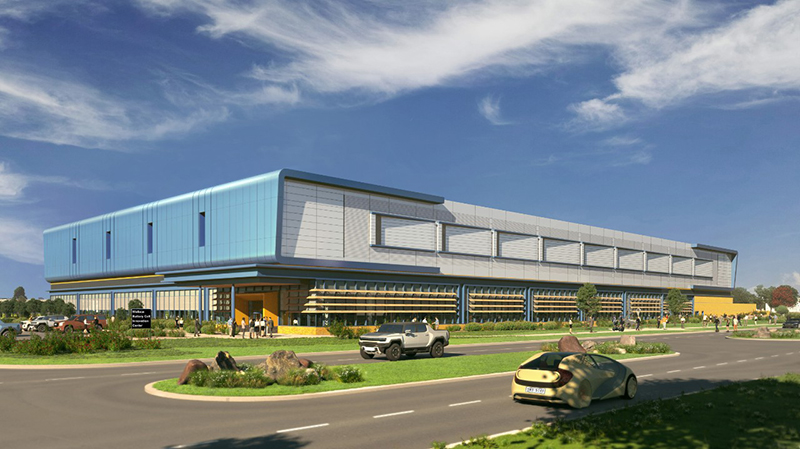 A rendering of the Wallace Battery Cell Innovation Center that will be at GMs Warren Technical Center. // Courtesy of General Motors Co.