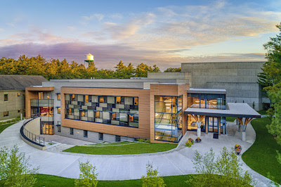 Interlochen Center for the Arts announced it has completed a 30-year campus transformation, including The Music Center (pictured). // Courtesy of Interlochen Center for the Arts