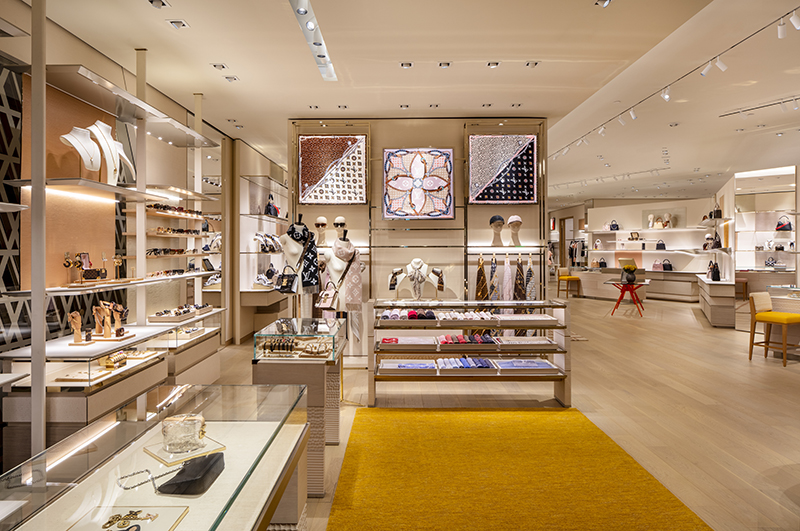 interior of the louis vuitton store at somerset collection