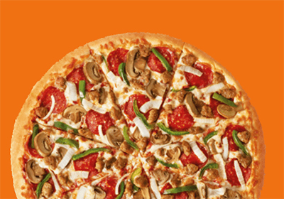 a loaded little caesars pizza