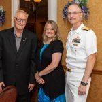 Rodney Volk, Kristine Volk, Rear Admiral William Greene