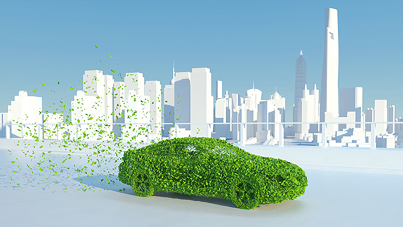 a green car concept