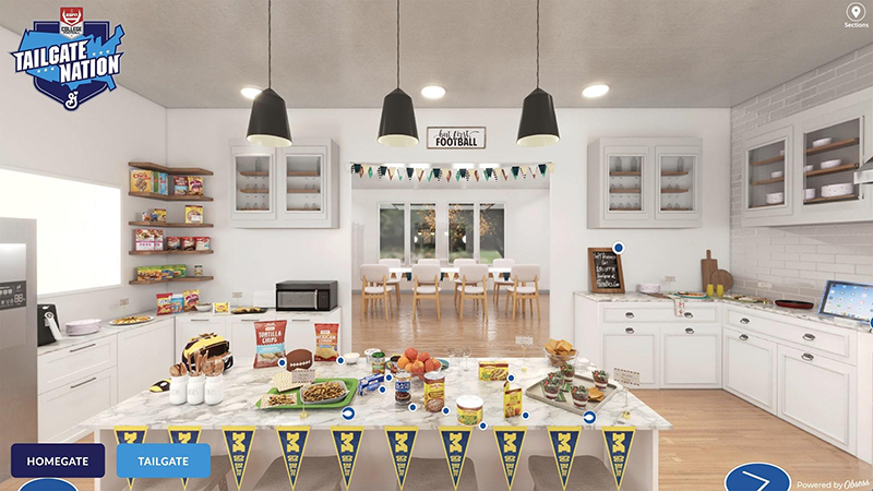 """Meijer and General Mills are partnering on a """"homegate"""" at-home tailgating programs. // Courtesy of Meijer"""